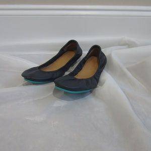 Tieks 9 California Navy Ballet Flats Leather